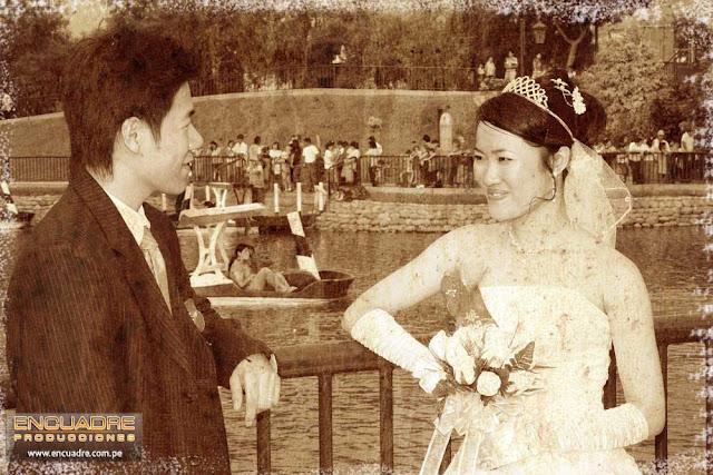 Foto boda novios china lima peru