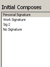 Select from four Gmail HTML signatures to edit for Composes and Replies