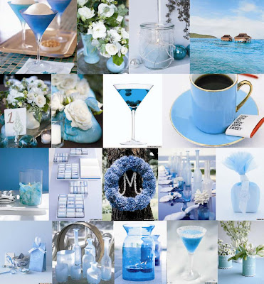 Now the latest trend in wedding color scheme involve cool blues blue and
