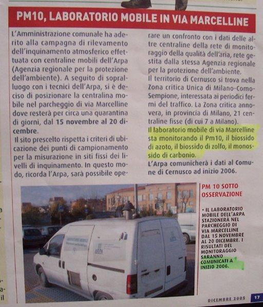 Semplice Comune Cittadino DIC 2005 Sindaco Daniele Cassamagnaghi