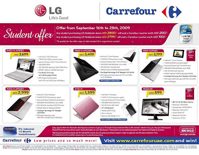 deals and discounts lg 39 student offer 39 at carrefour. Black Bedroom Furniture Sets. Home Design Ideas