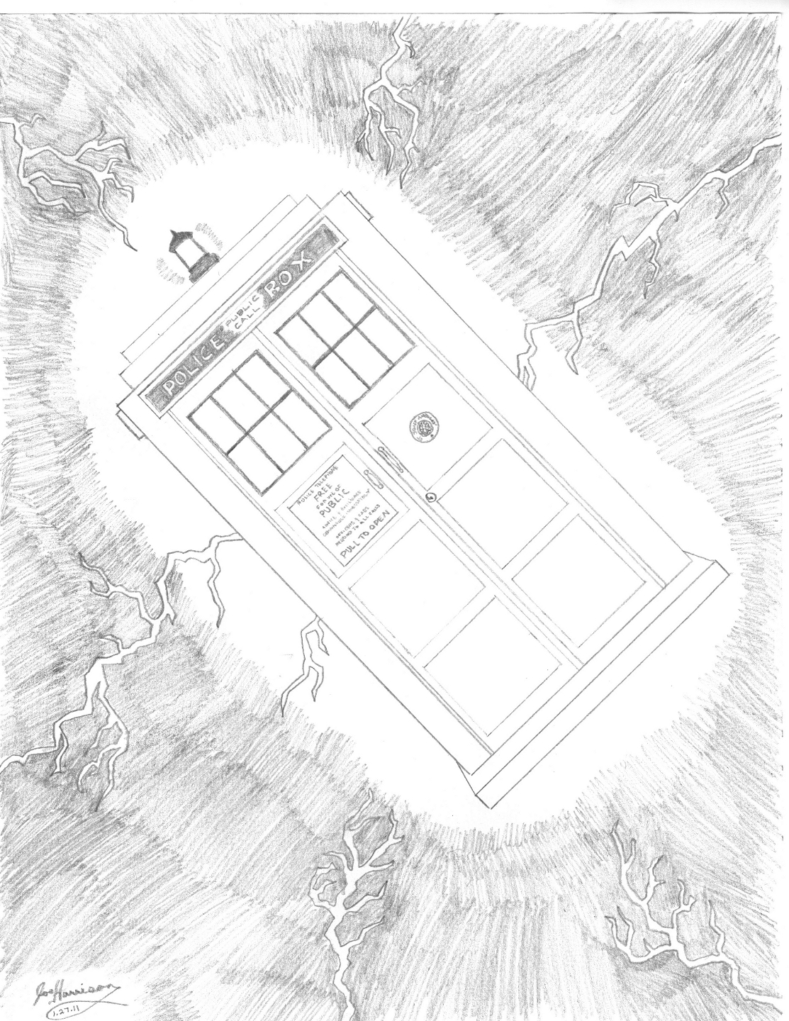 Drawing the TARDISHow To Draw The Tardis Easy