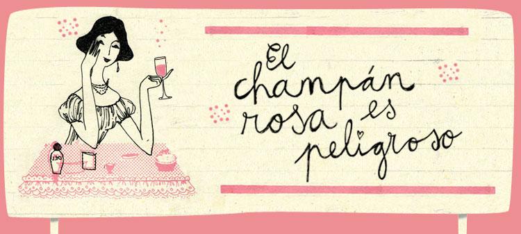 El champán rosa es peligroso