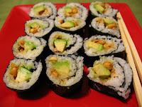Peanut Avocado Sushi Rolls