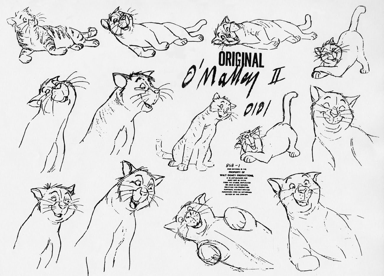 Character Design Disney Pdf : Living lines library the aristocats model sheets
