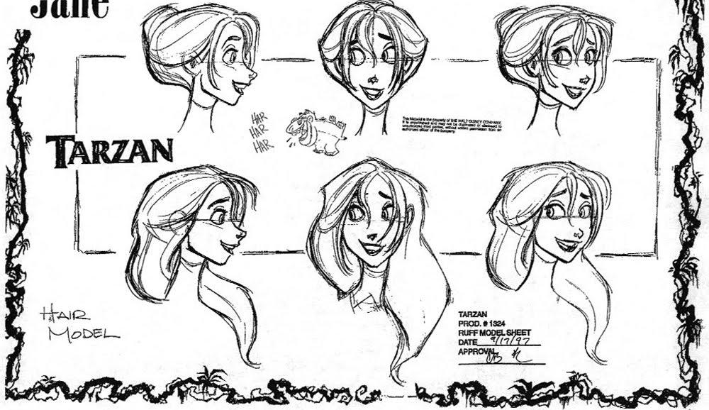 Disney Character Design Tarzan : Living lines library tarzan jane