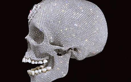 Raro para el amor de Dios Damien Hirst cráneo primero