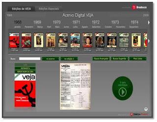 Conteúdo completo da Revista Veja disponivel online