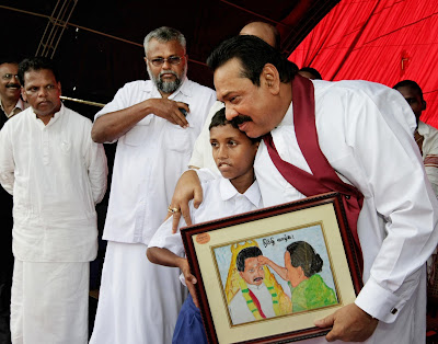 """He said, """"Today there is a new map for Sri Lanka; today, there are no"""