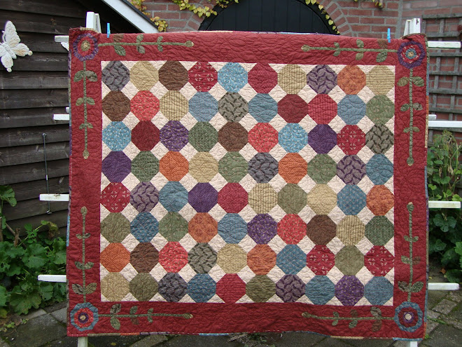 Herfstquilt snowball patroon