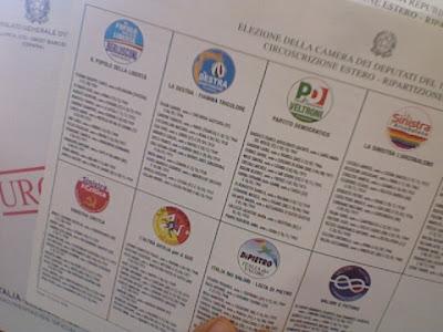 Liste elettorali nel pacco