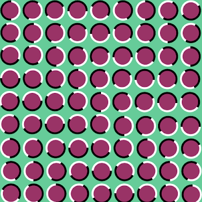 Moving red block Illusion