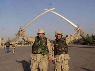 Sword Holding Soldier Optical Illusion