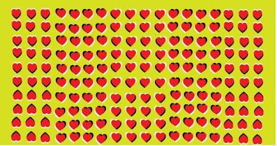 Moving Heart Optical Illusion