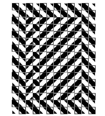 Square Size Optical Illusion