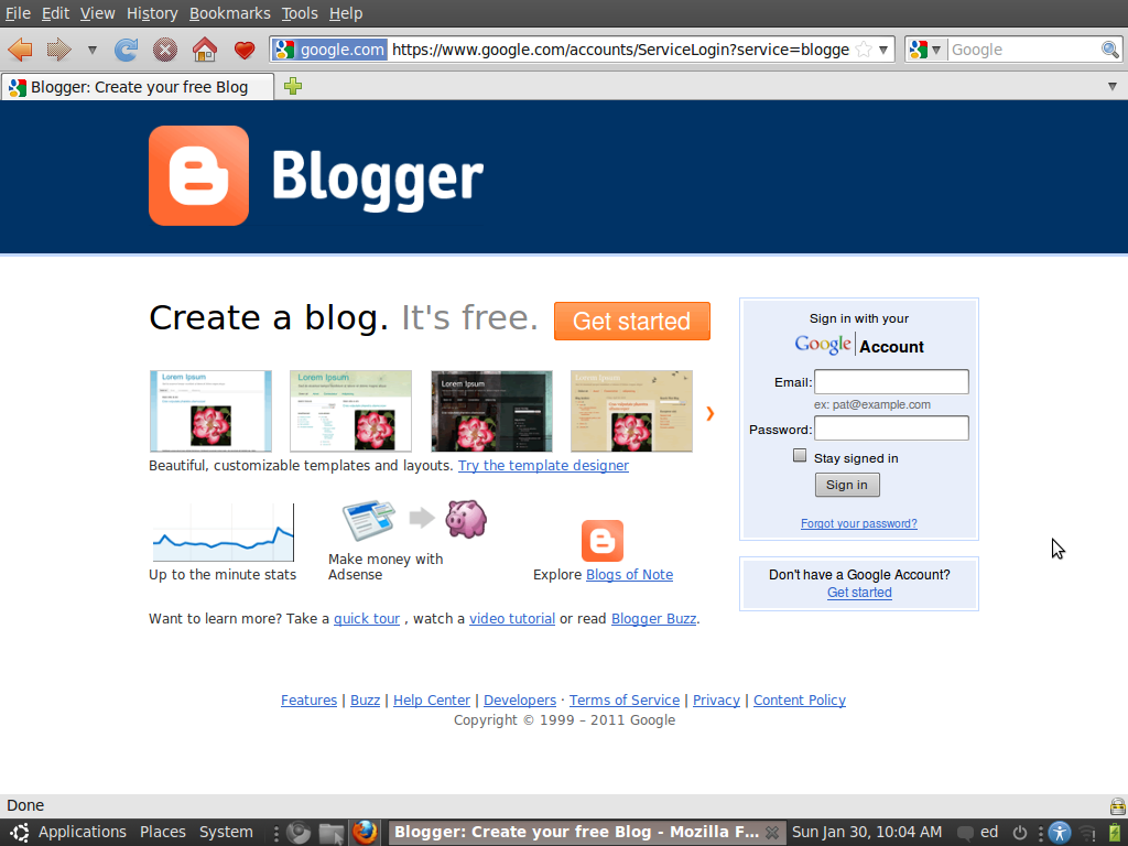 Cara Mendaftar di Blogger.com / Blogspot.com