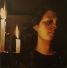 """""""autorretrato con velas"""""""