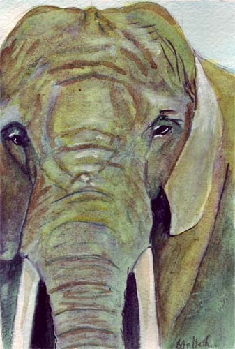 Elephant Face Painting http://bunnygriffeth.blogspot.com/2010/08/elephant-face-watercolor-painting.html