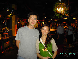 Last photo taken in restaurant with Lee Choo, a staff in the restaurant in the year 2007