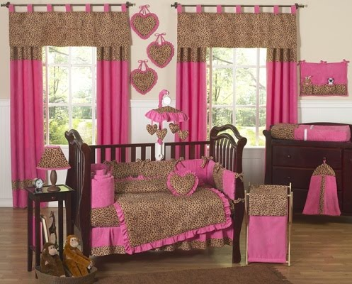 pink animal print bedding. Leopard Print Embroidered