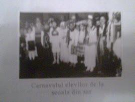 Carnavalul elevilor de la scoala din sat.