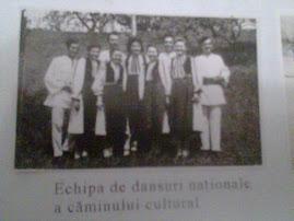 Echipa de dansuri a Caminului cultural.