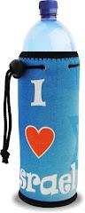 Termo porta botella I Love Israel 20 ctms.