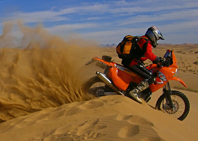 Altar Dunes in Mexico on the 660 Rallye KTM.