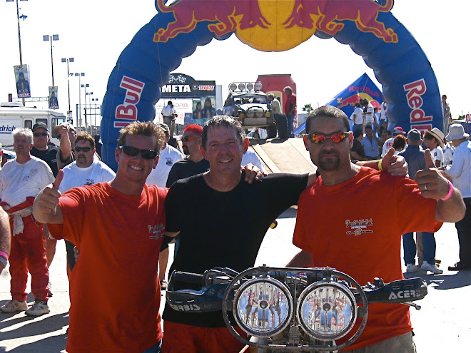 Almost 30 hours of racing later, we did it!  Team Terrible Herbst Moto at the finish in La Paz.