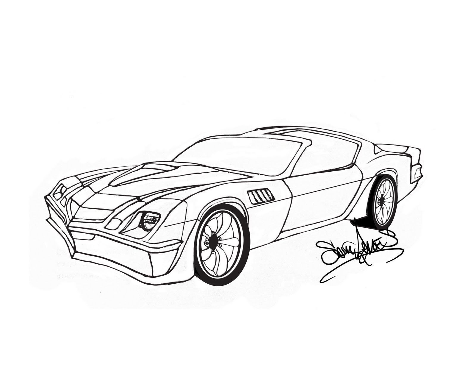 free coloring pages of 2 camaro