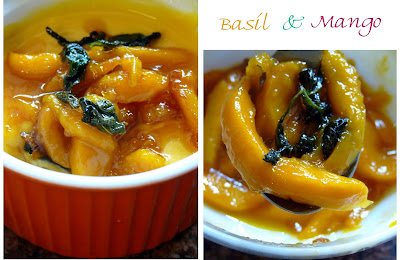 Caramelized Mango with Basil