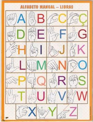 sinais 010 Recadinho LIBRAS para crianças