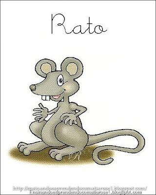 Rato+1 Alfabeto aprendendo com os animais para crianças