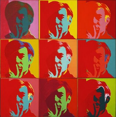 Self portraits in the style of andy warhol