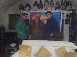 con il pittore focardi e il pittore marco gilioli