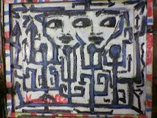 viaggio africano impresioni  olio cornice invasa 3