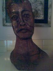jean perrrino autoritratto legno amico grande scultore ingenuo salvatore di boschi e creatore