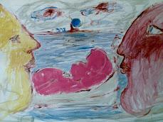 carnevale di venezia nudo rosso con maschere