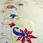 Kaligrafija, poročna vabila...
