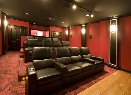 Media room recliners simple home decoration for House plans with media room