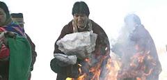 el año nuevo aymara es recibido por Morales nacido en el Altiplano