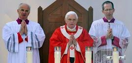por lo menos 150 mil personas concurrieron a la celebración papal en el santuario de Lourdes, Franc