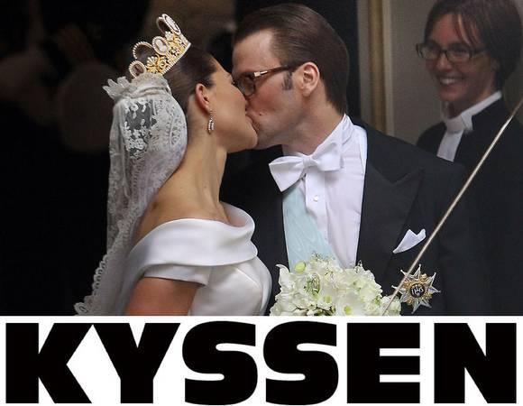 Kyssen. El beso que se dieron ante el pueblo de Suecia
