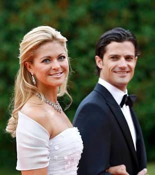 hace unas horas los príncipes Felipe y Madelaine en una recepción oficial