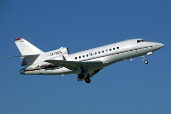 este es el Falcon900 que compró Evo sin autorización congresal y sin licitación