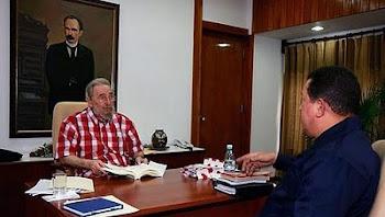 cinco horas se reunieron Castro y Chávez