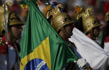 delegación de Brasil en la gran parada militar de Santiago