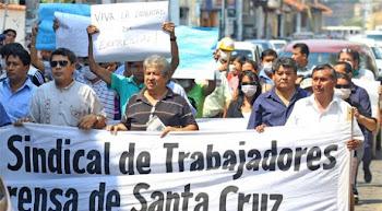 los primeros periodistas bolivianos en lanzar la huelga de hambre