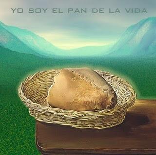 una hermosa estampa con un pedazo de pan que nos recuerda a Cristo