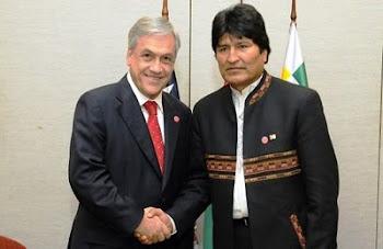 un saludo a la bandera resultó el enésimo encuentro en los jefes de estado de Bolivia y Chile